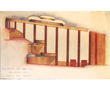 Interior design of the Volksbühne Berlin